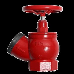 Клапан 65 мм, чугун (угловой, 125 градусов) КПЧ 65-1 (муфта-цапка)