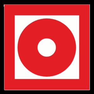 Знак - Кнопка включения установок (систем) пожарной автоматики F10